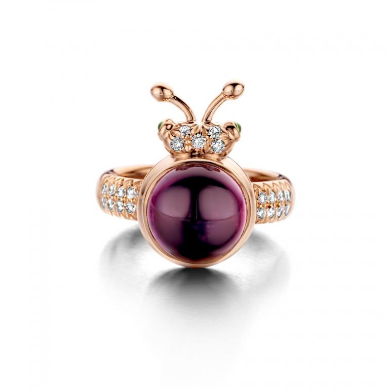 BILLY ring Royal purple garnet